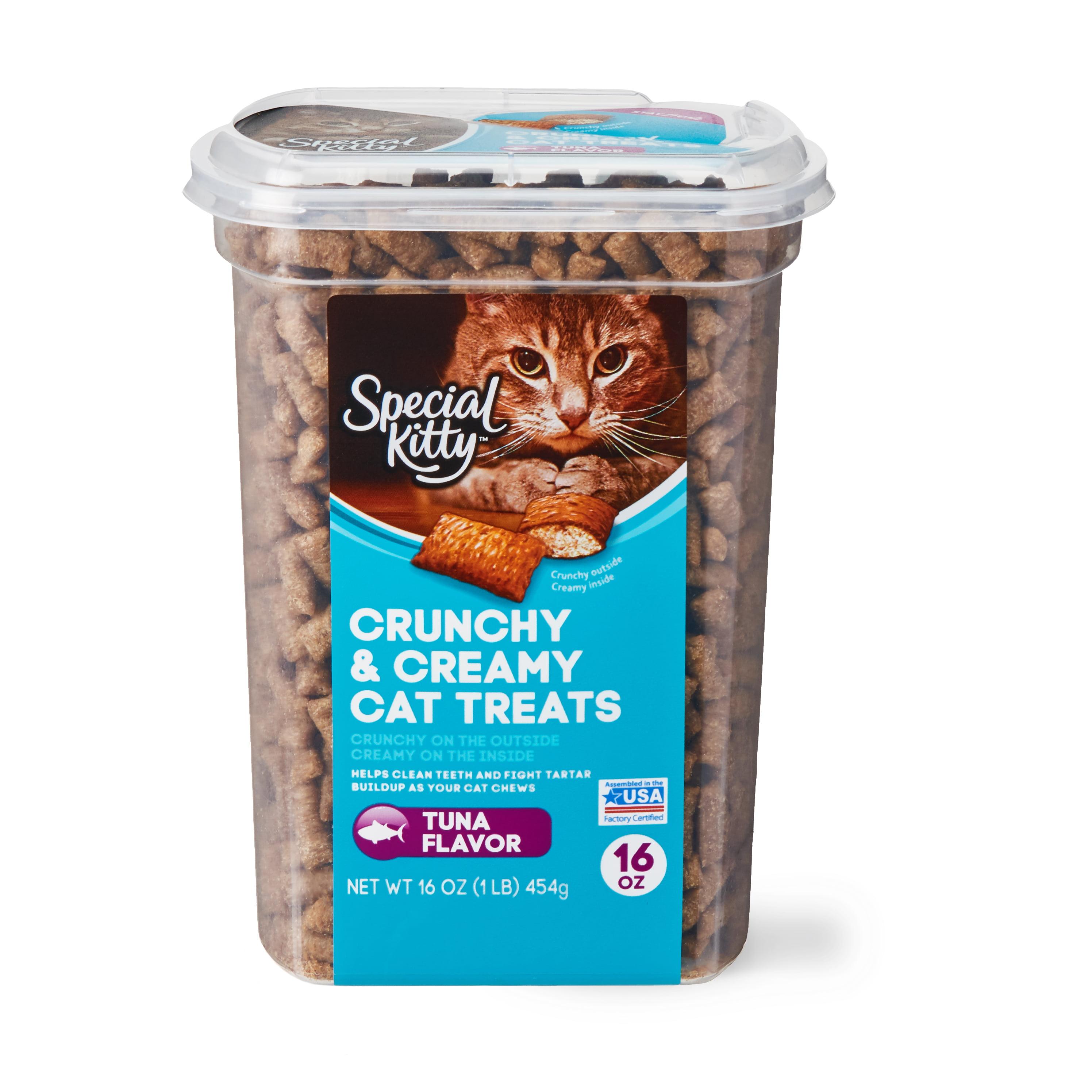 Special Kitty Crunchy & Creamy Cat Treats, Tuna Flavor, 16 oz