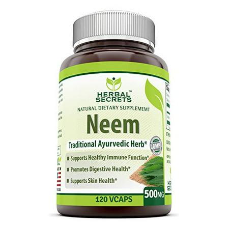 Herbal Secrets Neem 500 Mg 120 Vcaps