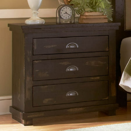 Progressive Furniture Willow 3 Drawer Nightstand ()