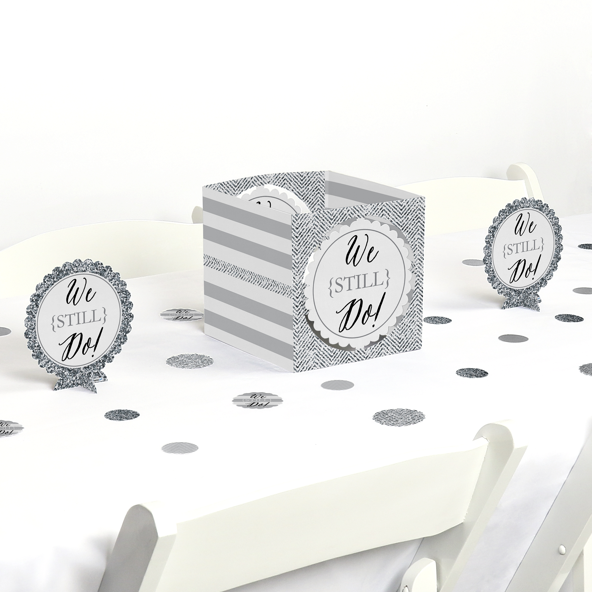 We Still Do - Wedding Anniversary - Party Centerpiece & Table Decoration Kit