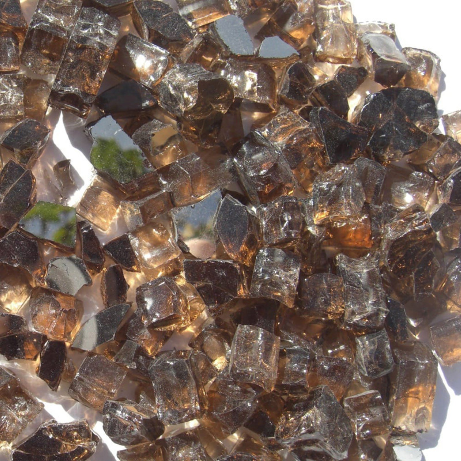 Tretco 0.5 in. Copper Reflective Fire Glass Crystals