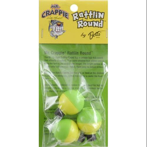 Betts Mr Crappie Snap-On Float Round W/Rattle 1in 3pk Md#: RP3-3YG