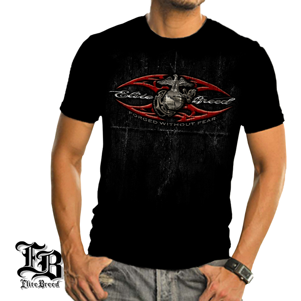 Cotton Elite Breed USMC Red Blades T-Shirt