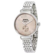 Shinola The Canfield Nude Dial Stainless Steel Ladies Watch 12004466