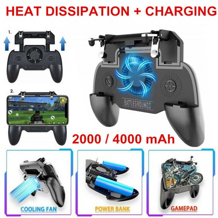 Phone Controller with 2000mAh Power Bank Cooling Fan, Mobile Controller Phone Game Mobile Trigger Joystick L1R1 Gamepad Grip Remote for 4-6.5 Inch Android iOS (2019 (Best Mobile Android Games 2019)