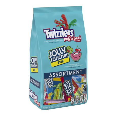 Twizzlers Pull 'n' Peel Jolly Rancher Assorted Chewy Candy, 51.9 Oz. (Are Twizzlers Licorice)