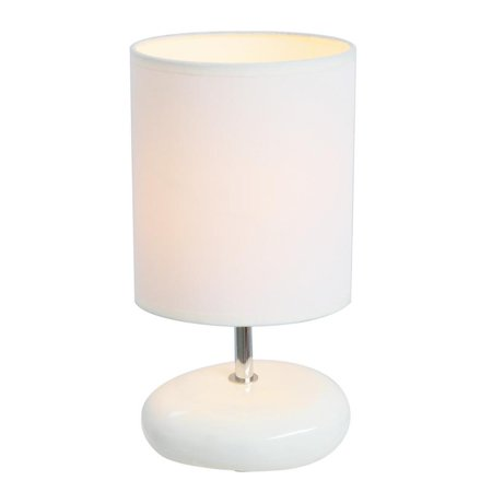 Simple Designs Stonies Small Stone Look Table Bedside Lamp