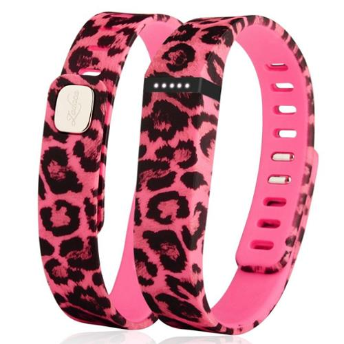 Zodaca Replacement Large Band for Fitbit Flex Wireless Activity Tracker Wristband Bracelet w/ Clasp Pink Leopard