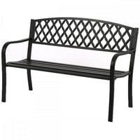 """50"""" Patio Garden Bench Park Yard Outdoor Furniture Steel Frame Porch Chair N33"""