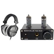 Beyerdynamic DT-990-PRO-250 Open Back Studio Headphones + Tube Headphone Amp
