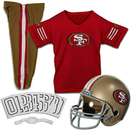 Franklin Sports NFL San Francisco 49ers Youth Licensed Deluxe Uniform Set, Small](San Francisco Halloween Superstore)