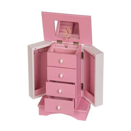 Mele & Co. Elise Girls Wooden Musical Ballerina Jewelry Box