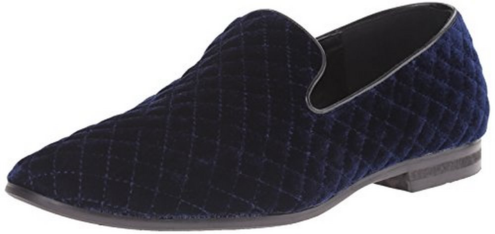 Giorgio Brutini Mens Quilted Velvet Pump, Navy by