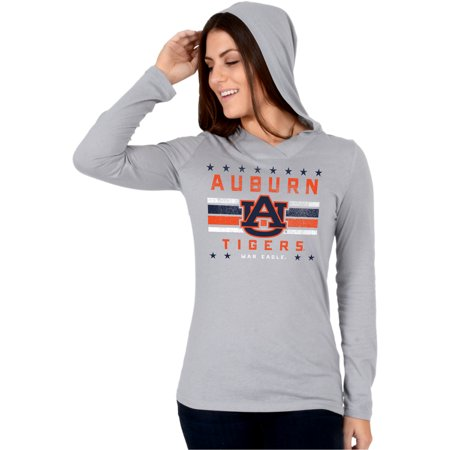 Women's Gray Auburn Tigers Stars and Stripes Pullover Hoodie (Tiger Hoodie Sweatshirt)