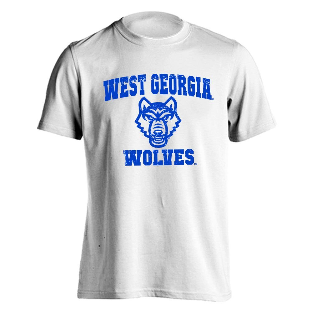 University of West Georgia Wolves UWG Retro Distressed Logo Short Sleeve T-Shirt� by Southland Graphics Apparel