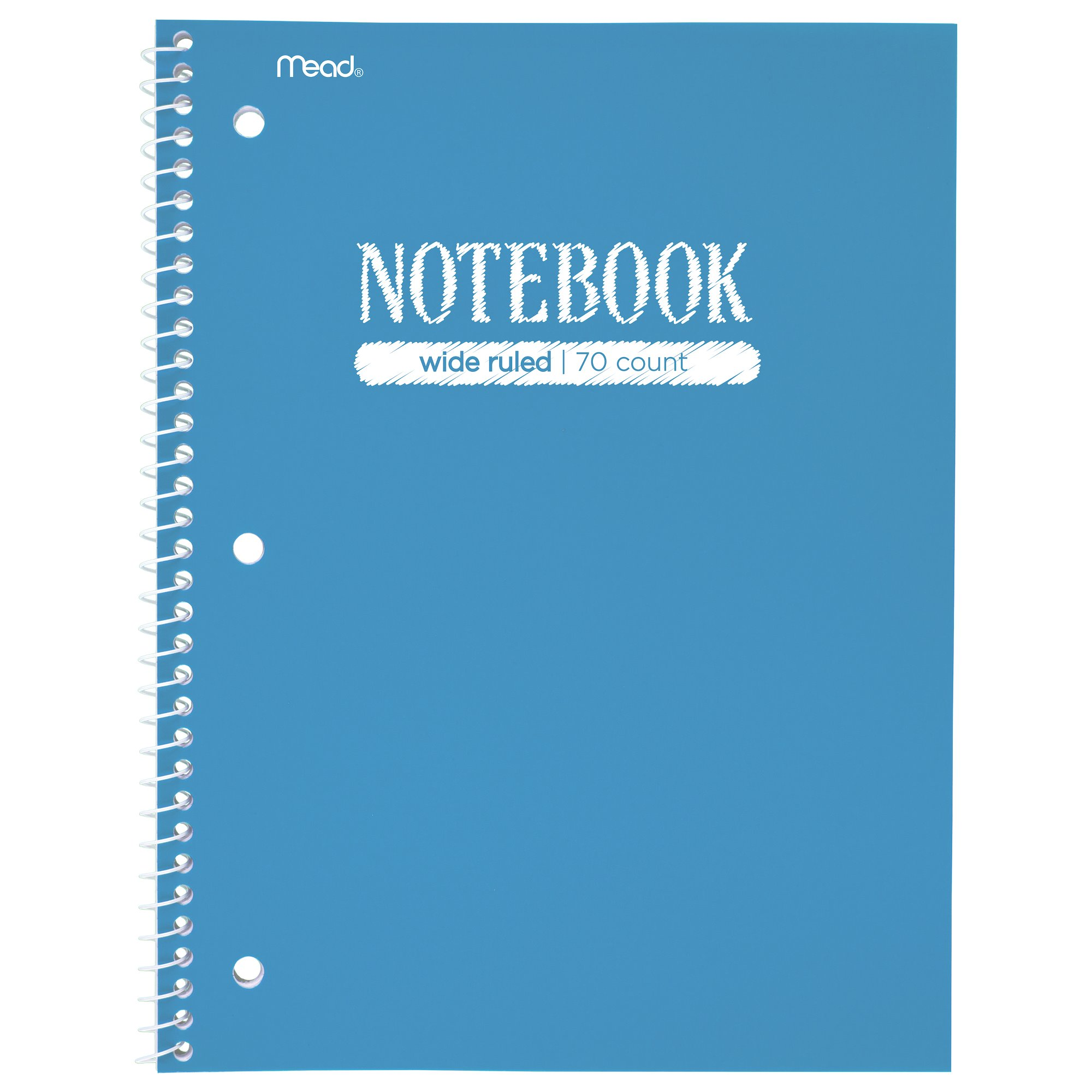 Mead Notebook 1 Subject Wide Ruled -