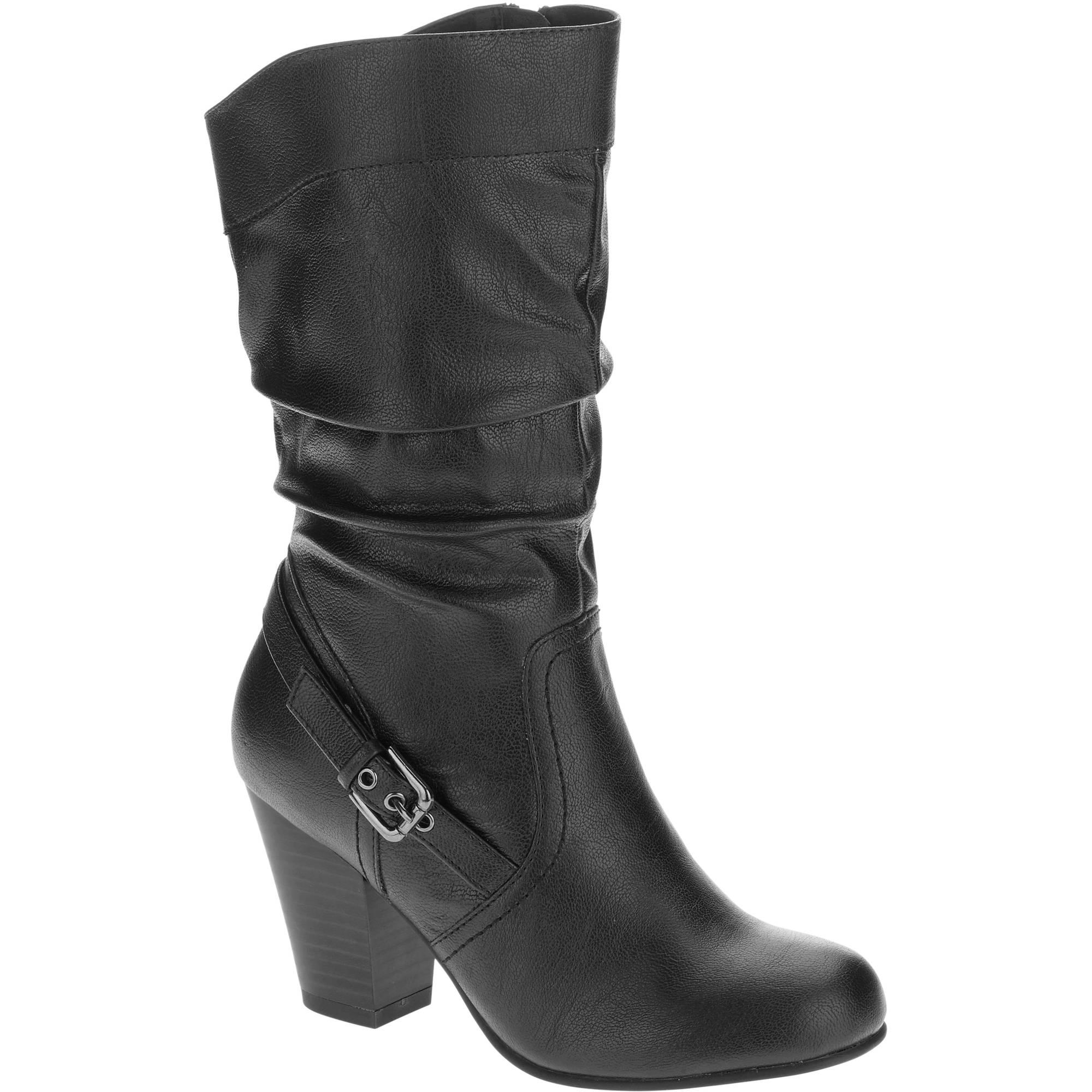 faded s slouch high heel boot walmart