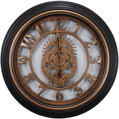 kieragrace Gears Wall Clock, 20-Inch, 2-Inch Deep, Bronze Finish