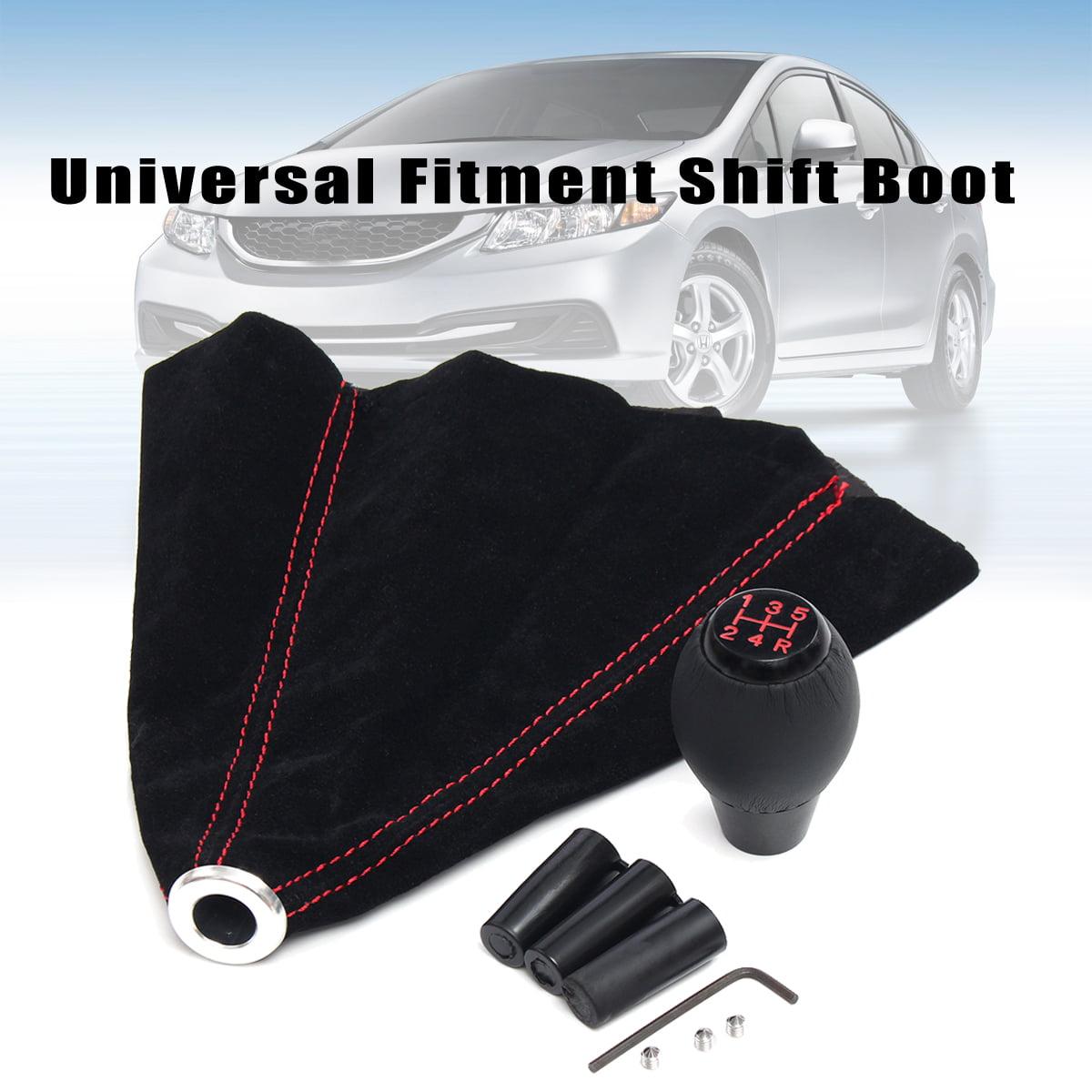 Black Gear Shifter Shift Knob Boot Universal Fitment For Honda Acura Crx Civic Si Models Walmart Com Walmart Com