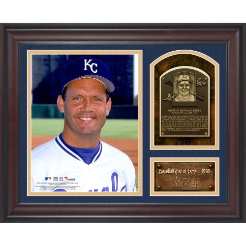 "George Brett Kansas City Royals Fanatics Authentic Framed 15"" x 17"" Baseball Hall of Fame Collage with Facsimile Signature - No Size"
