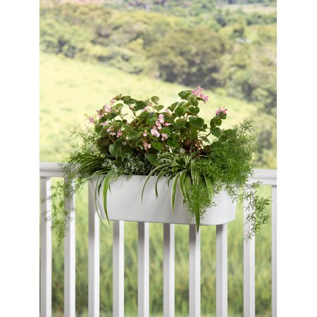 Viva Self-Watering Deck Railing Planter,