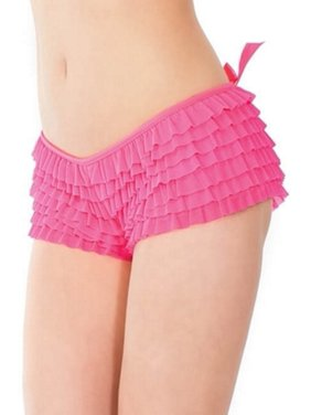 99d7d34c821 Product Image Coquette Neon Pink Ruffle Booty Shorts 114 Neon Pink