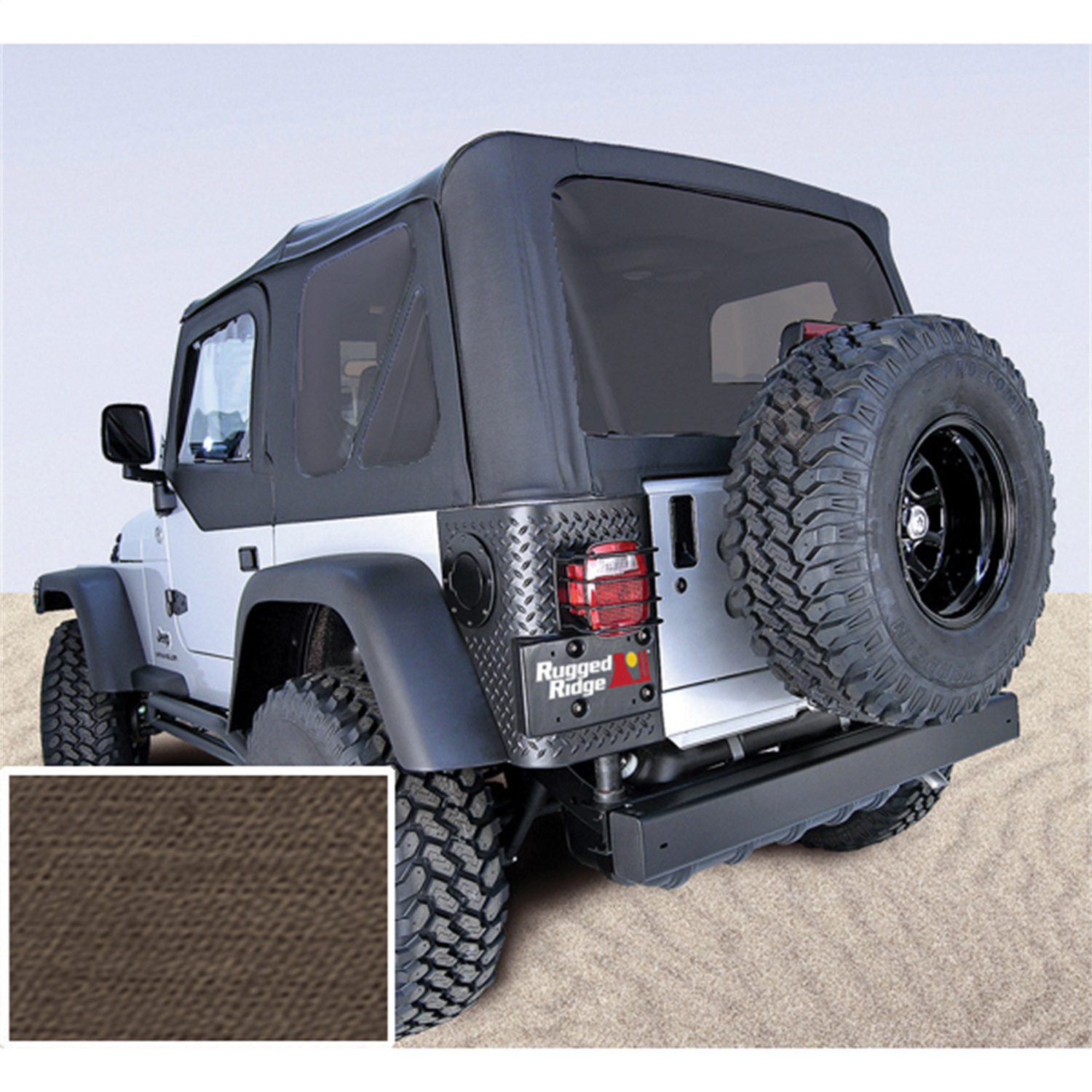 Rugged Ridge 13730.36 Replacement Soft Top Fits 03-06 Wrangler (TJ)