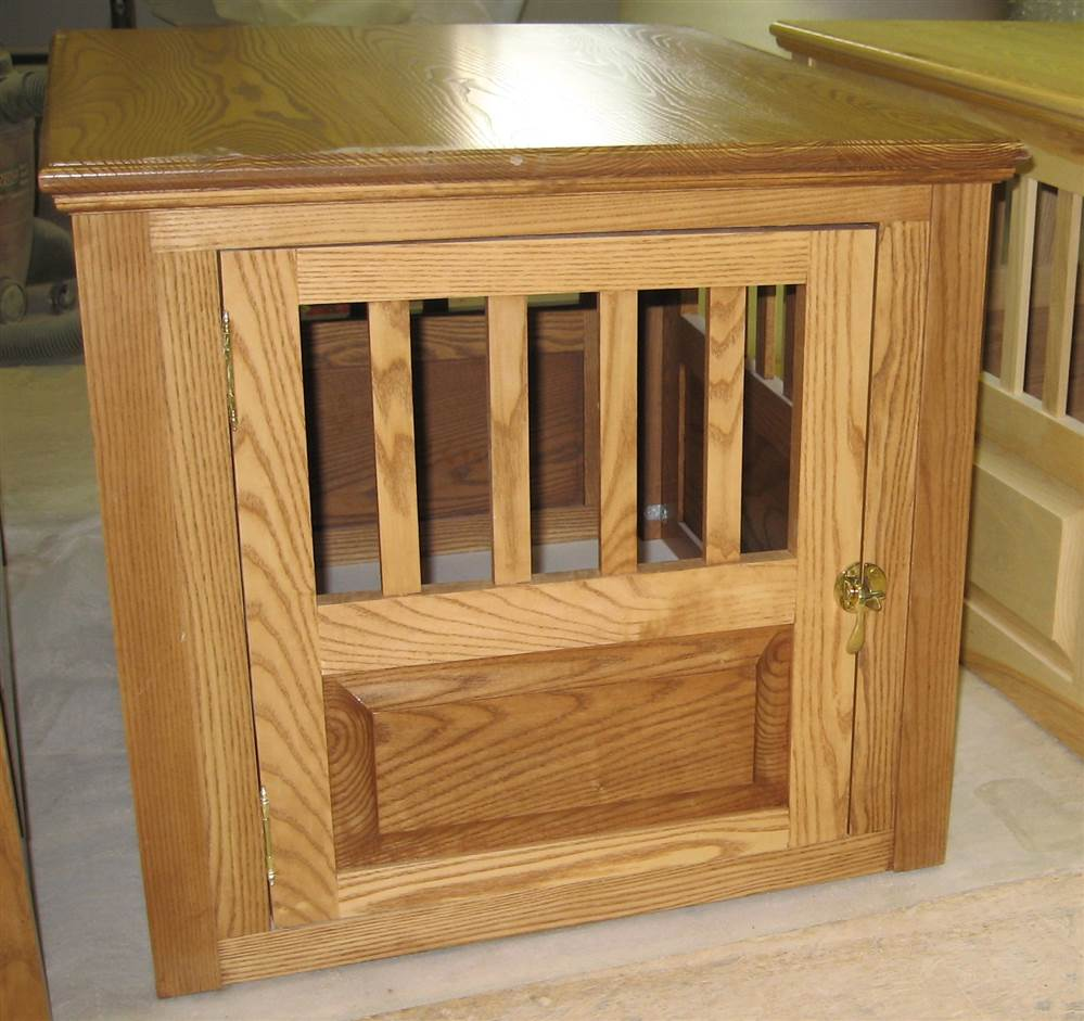 Pet Crate w Solid Brass Locks (Small, Natural)