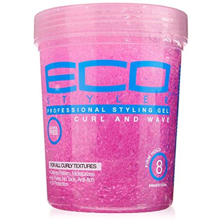 Anti Itch & Alcohol Free Eco Style Gel for All Curly Wavy Hair 32oz by Ecoco Alcohol Free Hair Gel