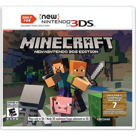 Minecraft New Nintendo 3DS Edition, Nintendo, Nintendo 3DS, 045496904517 (Popcap Games Ds)