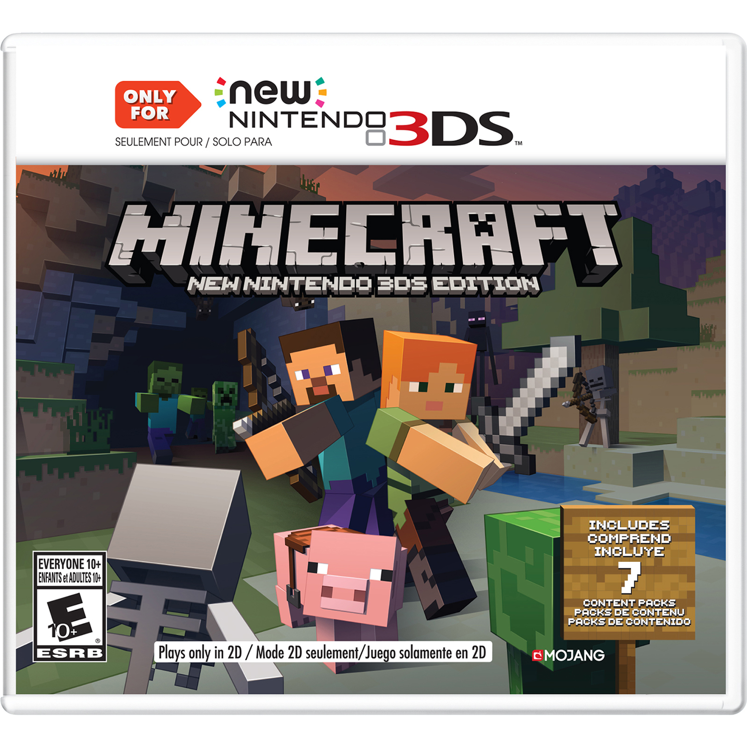 Minecraft New Nintendo 3DS Editions, Nintendo, Nintendo 3DS, 045496904517