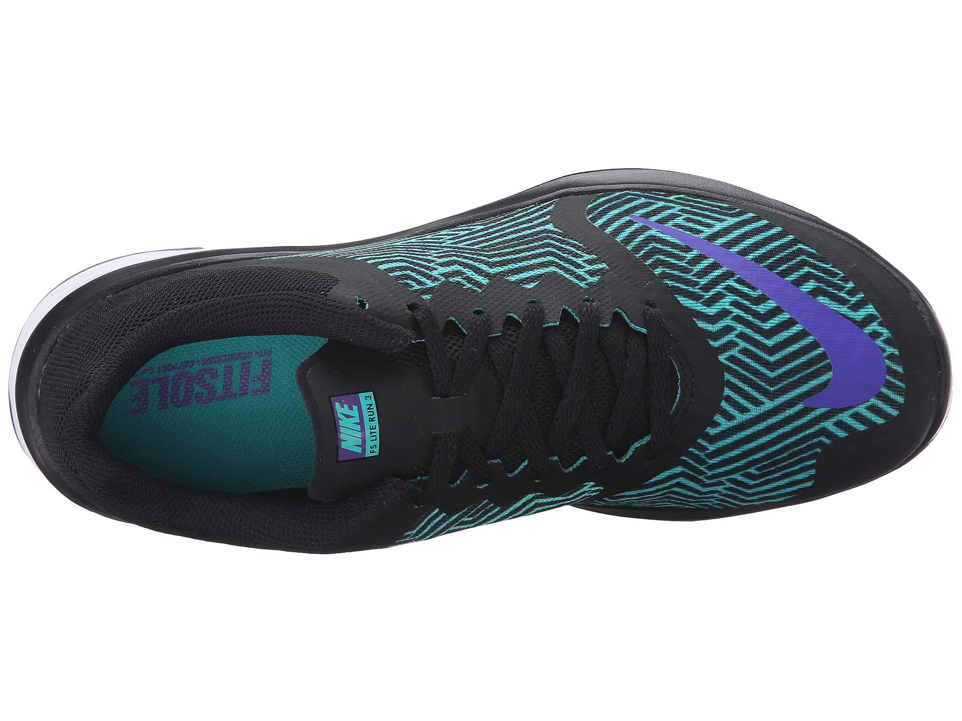 Nike Women's Fs Lite Run Purple/Clear 3 Premium W Black/Fierce Purple/Clear Run Jade/White Ankle-High Walking Shoe - 9M 207bcb