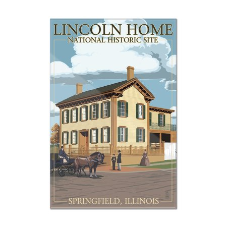 Lincoln Home National Historic Site   Springfield  Illinois   Lantern Press Poster  8X12 Acrylic Wall Art Gallery Quality