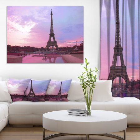 Paris Eiffel Towerin Purple Tone - image 3 de 3