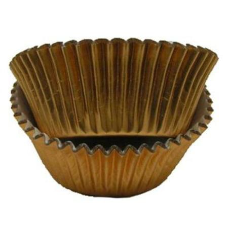 Copper Foil - Mini Baking Cupcake Liners - 100 Count - Maximum baking temperature 325 degrees (Copper Tooling Foil)