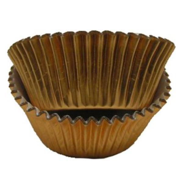 Copper Foil - Mini Baking Cupcake Liners - 100 Count - Maximum baking temperature 325 degrees