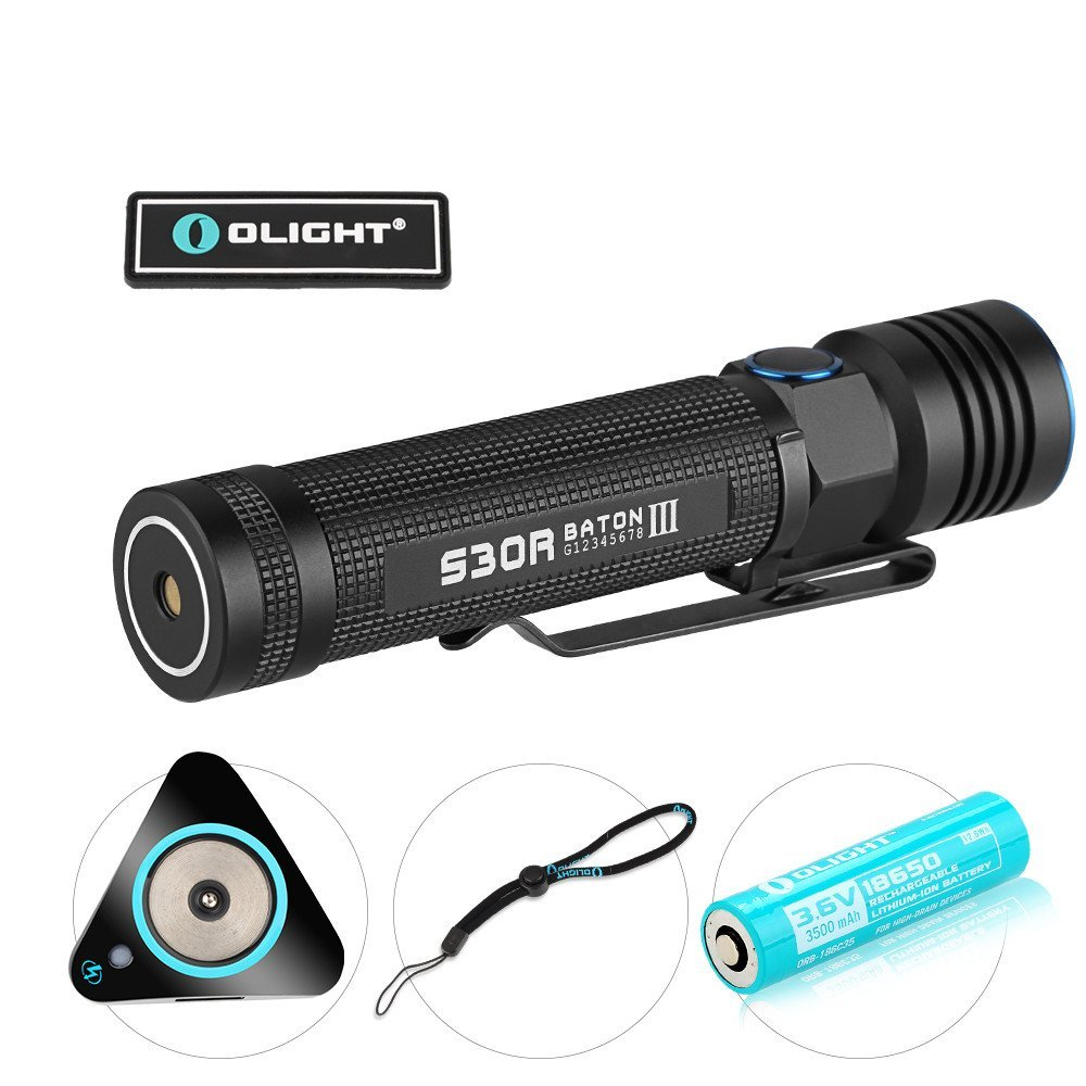 Olight S30R Baton III 1050 Lumens EDC LED Rechargeable Flashlight