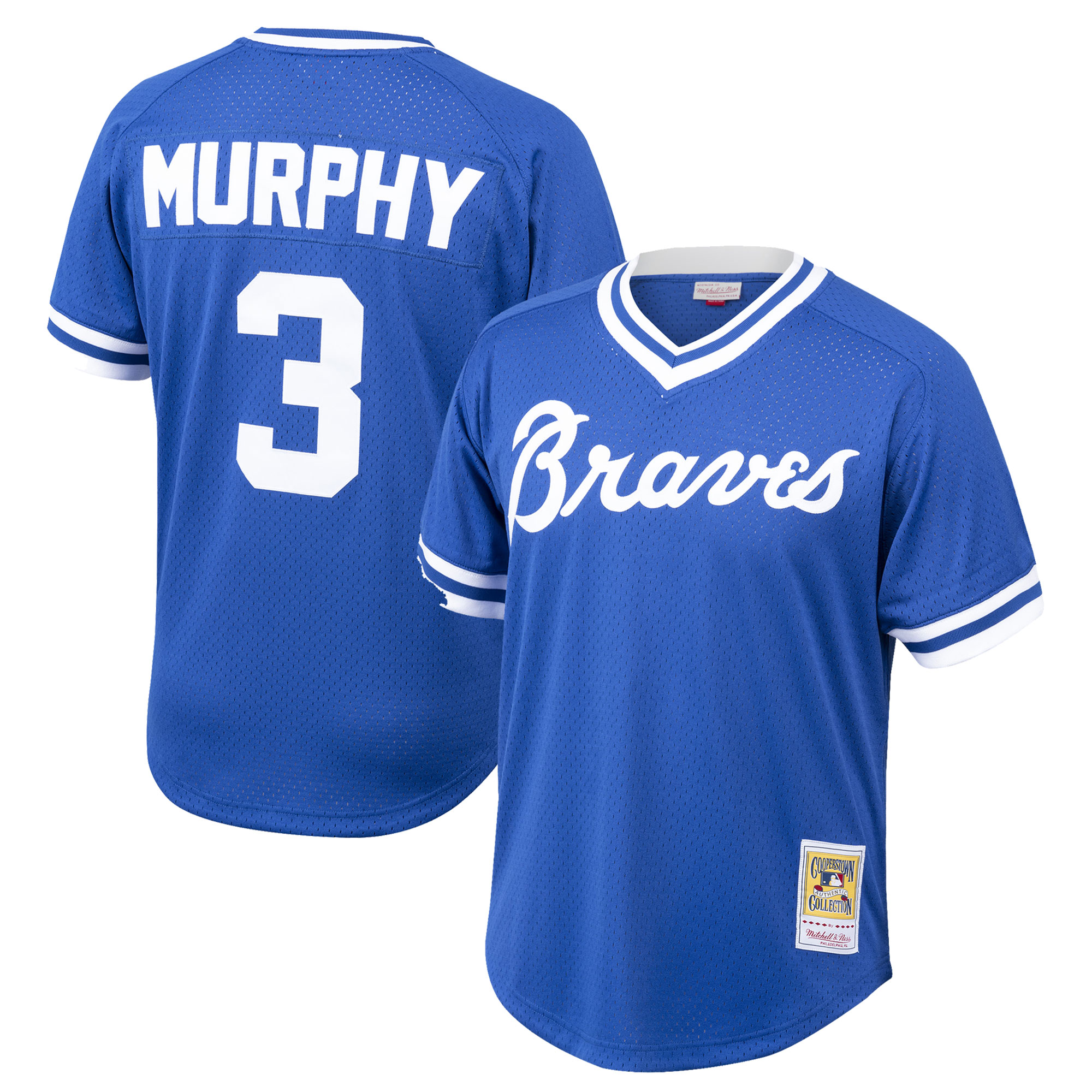 Dale Murphy Atlanta Braves Mitchell & Ness Youth Cooperstown Collection Mesh Batting Practice Jersey - Royal