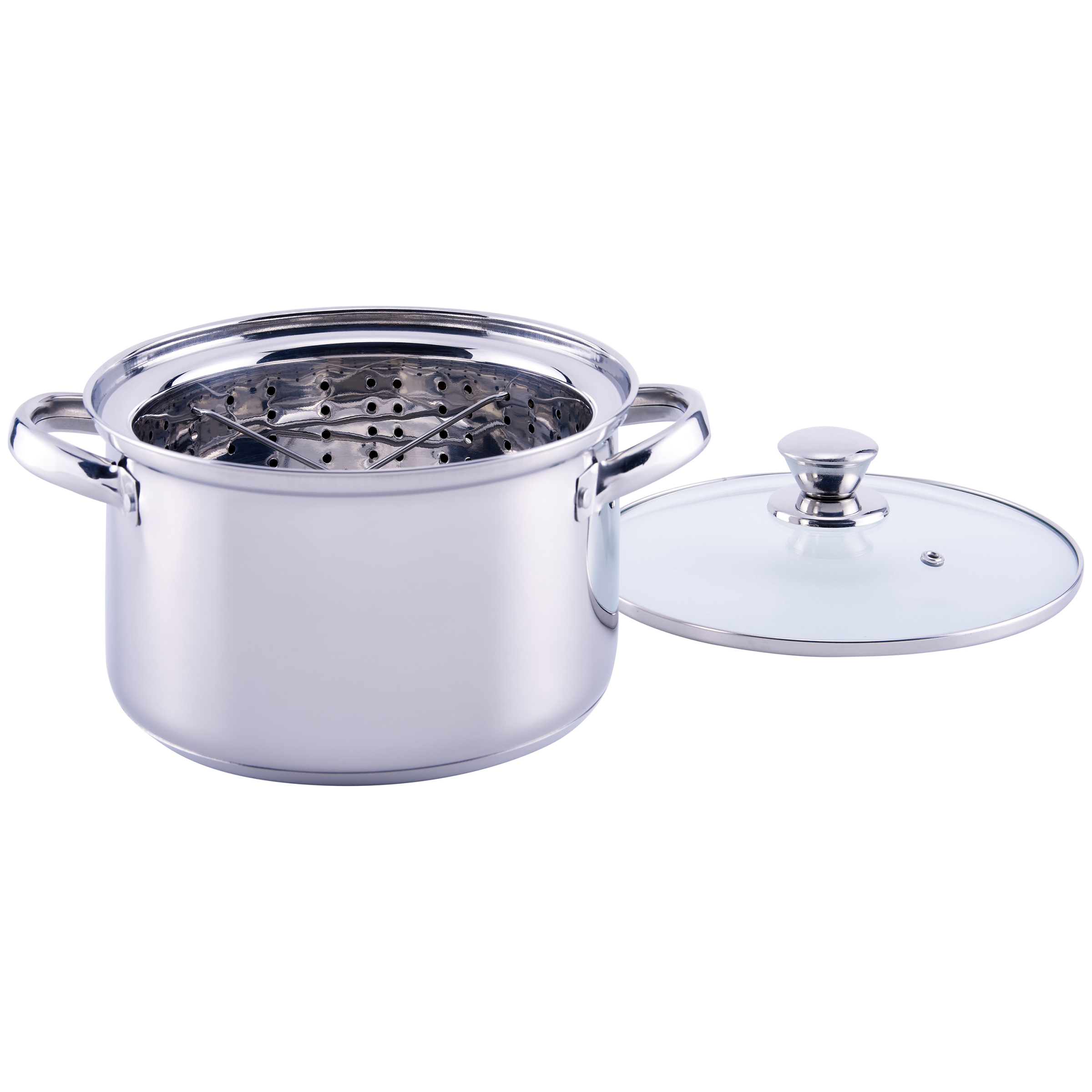 Mainstays Stainless Steel 4 Quart Steamer Pot With Insert And Lid
