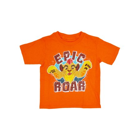 Toddler Boys The Lion Guard Kion T-Shirt - Short Sleeve Orange - Orange Boas