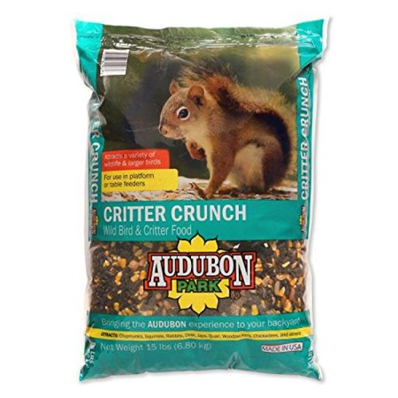 Bird Seed Bag - Audubon Park 12243 Critter Crunch Wild Bird Food, 15 lb, Bag, Seed