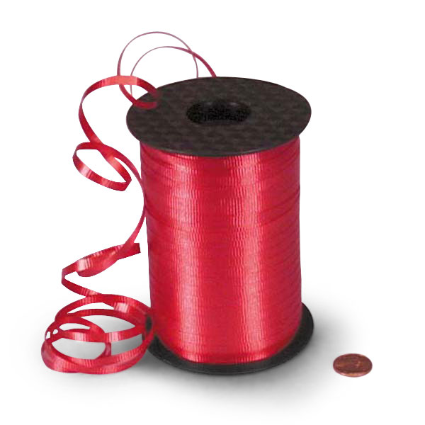 "Red Crimped Curling Ribbon 3/16"" X 500 Yards  by Paper Mart"