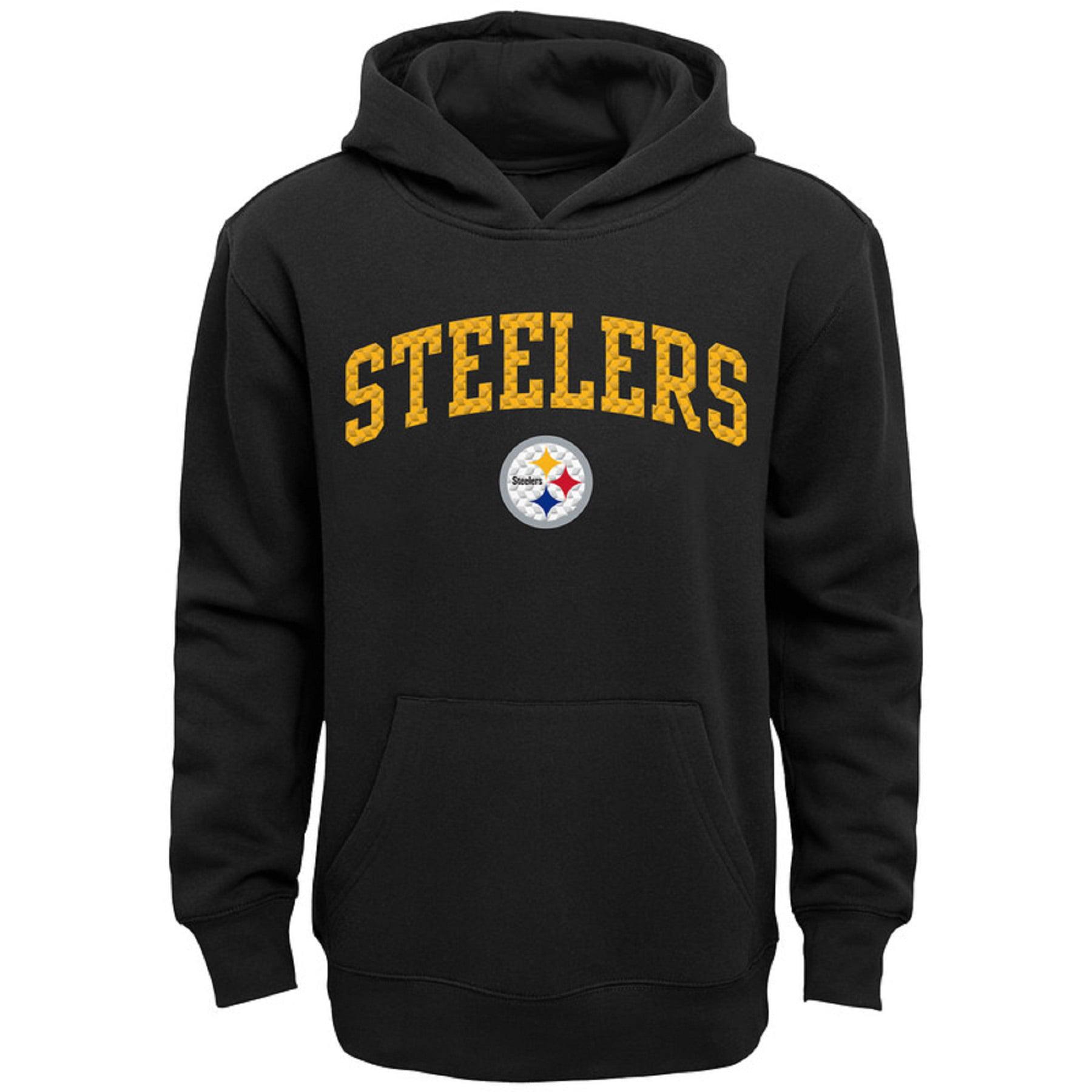 Youth Black Pittsburgh Steelers Clear Gel Fleece Hoodie