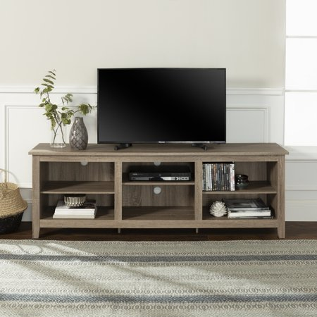 "Walker Edison Wood Tv Media Storage Stand For Tv's Up To 78""   Driftwood by Walker Edison"
