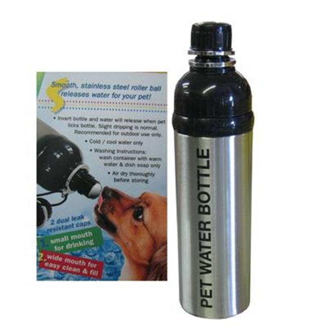 Good Life Gear SF6035 SS 24 oz.  BPA Free Travel Water Bottle For Pets - Silver