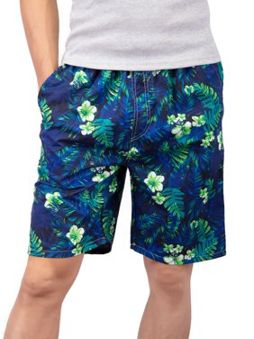 DODOING Men's Soft and Comfortable Swim Trunks Quick Dry Beach Board Shorts Swimwear Plus Size Bathing Suit Beachwear