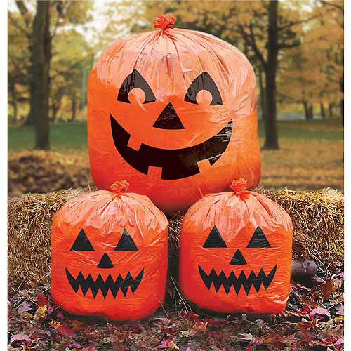 Halloween Pumpkin Lawn Bags 3ct