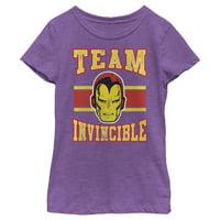 Marvel Girls' Iron Man Team Invincilbe T-Shirt