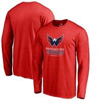 466208d123f Product Image Washington Capitals Team Lockup Long Sleeve T-Shirt - Red