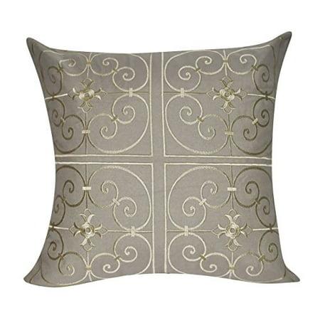 Loom And Mill P4040P 40X40 Dark Tan Iron Work Decorative Delectable Loom And Mill Decorative Pillows
